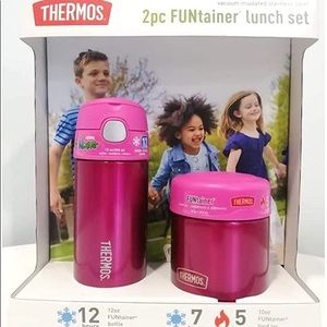 THERMOS FUNtainer Lunch Set Bottle & Food Jar NWT